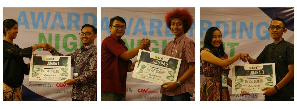 Awarding Night Photo Challenge Indmira & Greeneration Tehnik Lingkungan UPN Yogyakarta